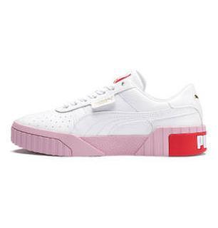 Cali platform sneaker wit/roze