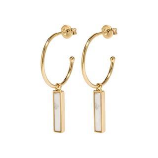 CLUSE CLJ51001 - Idylle Gold Marble Bar Oorringen