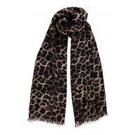 GUESS Devyn sjaal met luipaardessin 180 x 50 cm