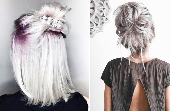 De Mooiste Kapsels Met Zilver Blond Haar Styletoday