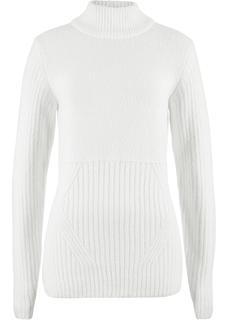Dames trui lange mouw in wit