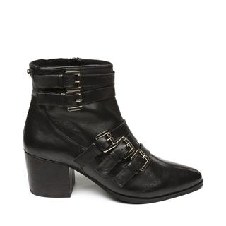 Fibbie Casual Booties black leather dames