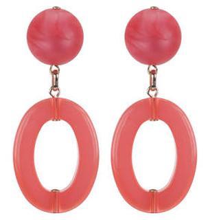 Coral Pink Mars oorbellen