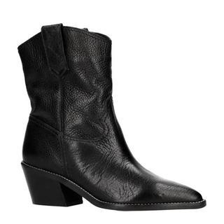 leren bowboy boots zwart