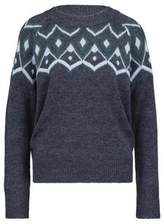 Damessweater Donkerblauw (donkerblauw)