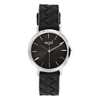 horloge met een zwarte rubberen band