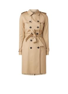 Saskia double breasted-trenchcoat met ceintuur