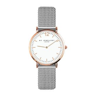 Small Bicolor Watch - Silver/Rose/White