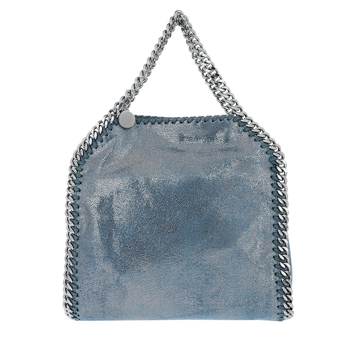 Stella Mccartney Stella Mc Cartney Tassen met handvat - Falabella Fold-Over Tote Blue Lagoon in blauw voor dames Goedkope Pick Een Best b8NLKpzQQG