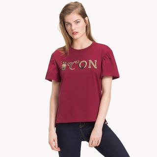 Tommy Icons T-shirt met ruches