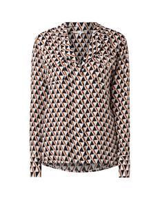 Reid loose fit blouse met grafisch dessin