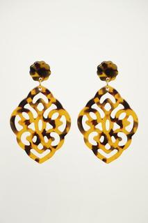 Brown Small Chandelier Earrings