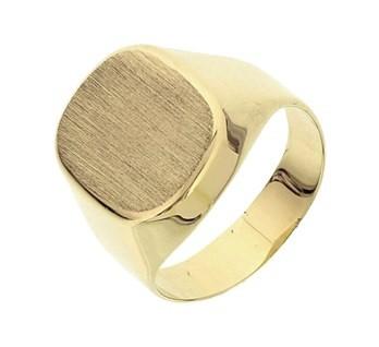 Gratis Verzending Authentieke It'S Beautiful Mat gediamanteerde zegelring van goud voor heren graveer ring geel online super JDFrCJWhBb