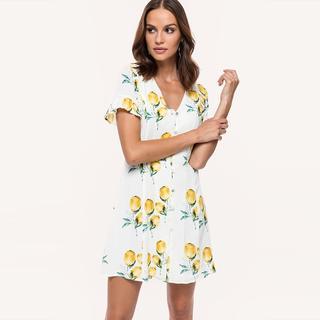 citroenen jurk