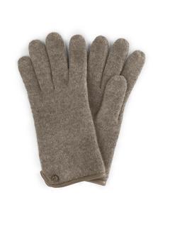 Handschoenen van 100% scheerwol beige