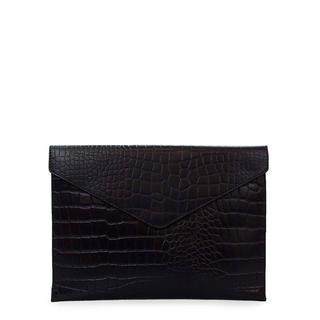 "Envelope Laptop Sleeve 13"" - Eco Classic Black Croc"