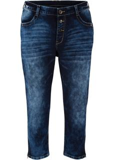 Dames 3/4 boyfriend jeans in zwart