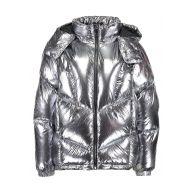 Topshop KUBO METALLIC PUFFER Winterjas silver