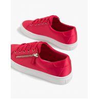 Rode sneakers met rits Rood
