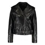 12 Midnight BIKER  Leren jas black