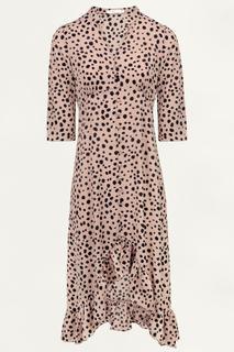 Roze midi jurk cheetah
