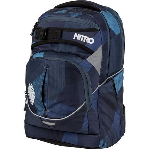 Nitro Schoolrugzak, Supereroe Frammenti Blu