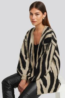Zebra Printed Oversized Cardigan