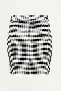 Zwart-wit geruite rok