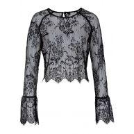 Dames shirt lange mouw in zwart - RAINBOW