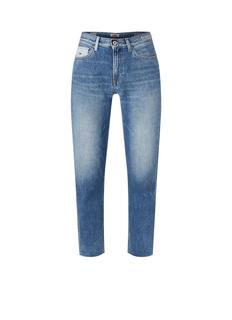 Izzy high waist slim fit jeans met logo