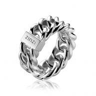ZINZI zilveren ring gourmet glad ZIR1122