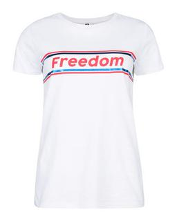 DAMES FREEDOM PRINT T-SHIRT