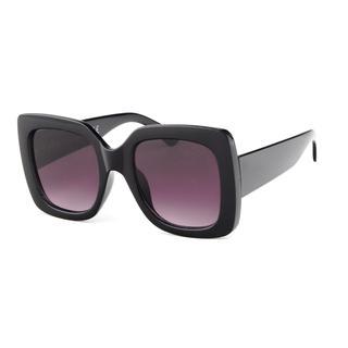 Zwarte zonnebril met grote donkere glazn