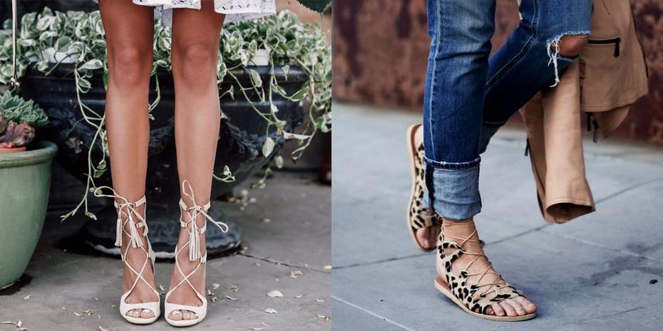 lace-up sandalen