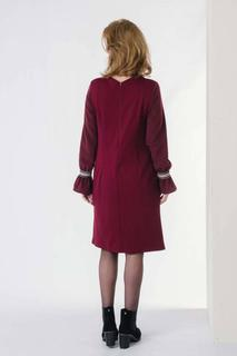 LISA DRESS DARK RED