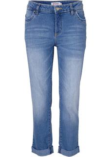 Dames 7/8-stretchjeans straight in blauw