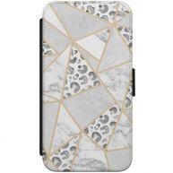 iPhone X flipcase hoesje - Stone & leopard mix