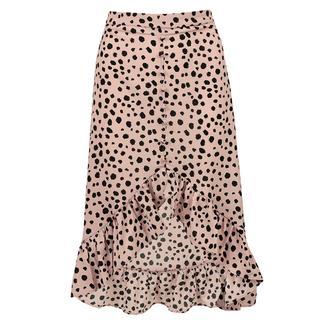 Roze midi rok cheetah