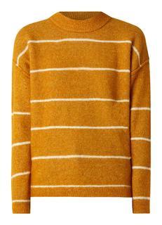 Brook Knit fijngebreide trui in wolblend met lage col
