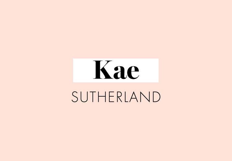 In de stijl van Kae Sutherland