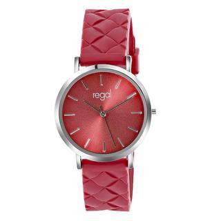 horloge met een rode rubberen band