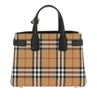 Tote - New Banner Small House Check Tote Black in beige voor dames - Gr. Small