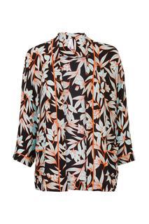 Kimono bladerprint zwart