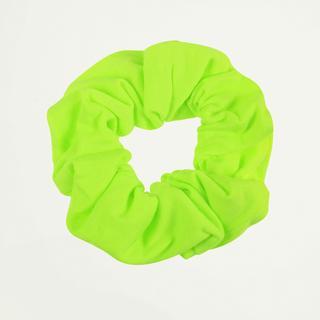 Neon groene scrunchie