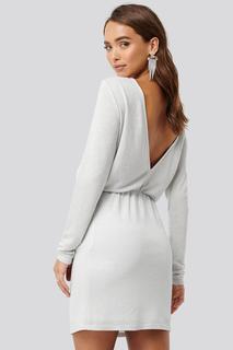 Glittery Open Back Mini Dress