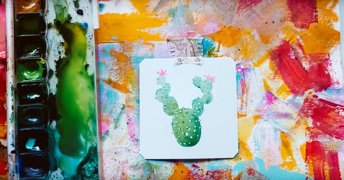 DIY: een cactus tekenen met waterverf - Flow Magazine NL