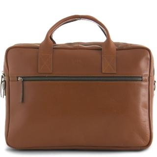 Leren 15 inch Clean Brief 2 Room Cognac