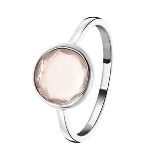 Zilveren ring Gemstone rose quarts