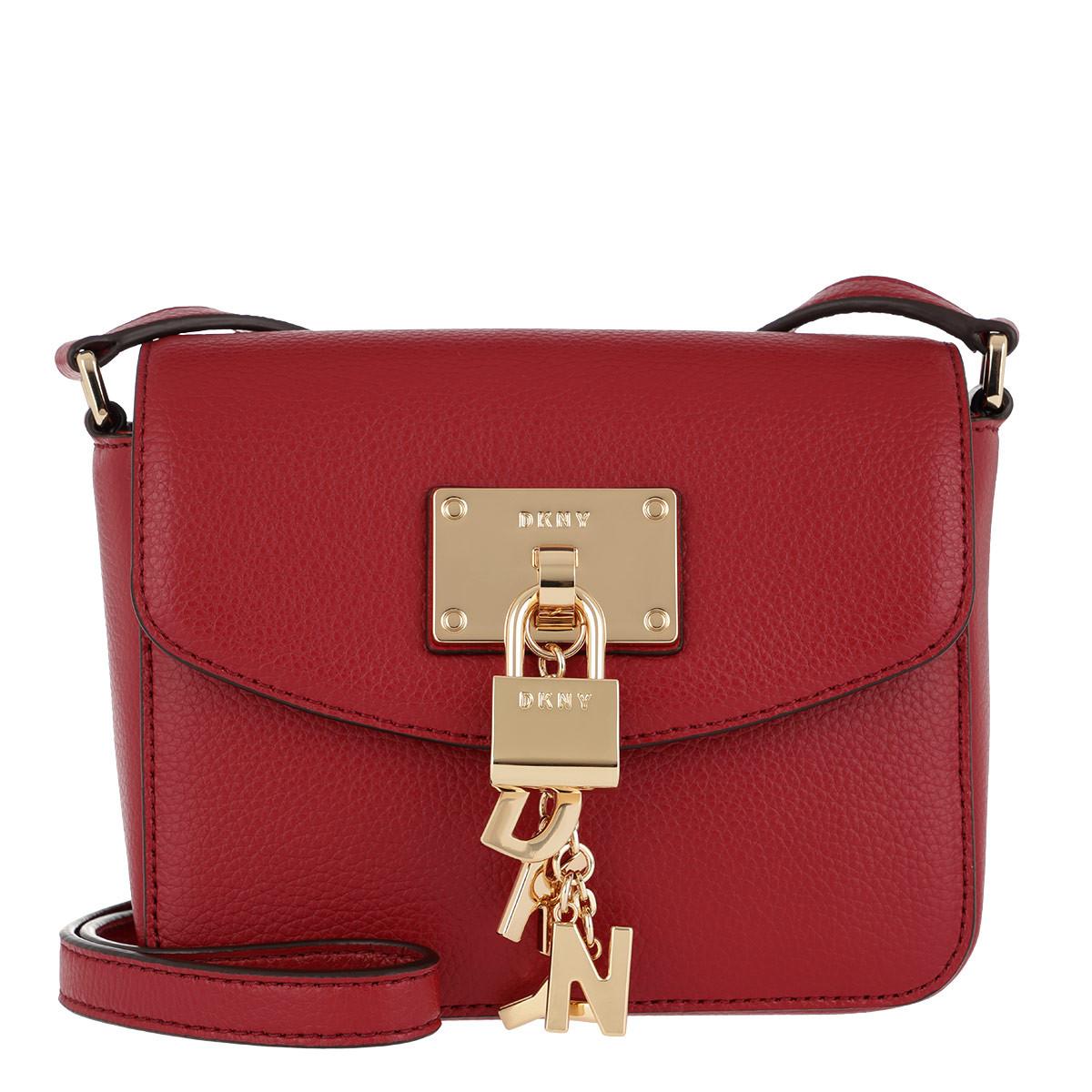 Tracolle Dkny - Elissa Piccolo Lembo Borsa Crossbody Rosso Brillante In Rosso Per Le Donne ePILr