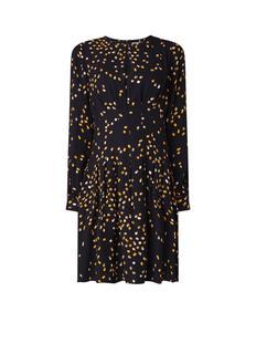 Arabella mini-jurk met dessin en plissé